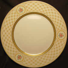 A. Raynaud & Co. Chambord Dinner Plate White with Detailed Gold Incrustation