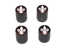 Fleur de Lis - Saints Tire Rim Valve Stem Caps - Black