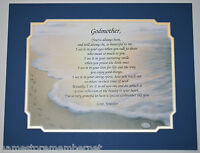 GODMOTHER Personalized Poem GIFT  The PERFECT Gift