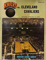 1972, (Feb.12) Basketball Program, Cleveland Cavaliers @ New York Knicks