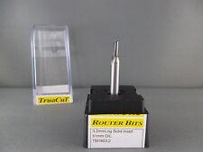 Router Bit-3.2mmStraight 2F SOLID insert 1/4Shk