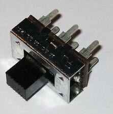 3A DPDT Slide Switch - 125 VAC - 3 Amp - Metal Body - PC Board Mount - 6 Contact
