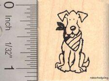 Small Patriotic American Dog Rubber Stamp C13903 WM