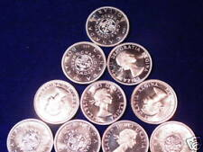 1964 Canada Proof Like Silver Dollars Lot Of 10