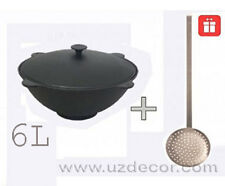 6 liters New Uzbek National (cookware) 100% Cast-Iron Kazan,Qazon (1.6 gal)