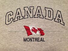 VINTAGE MONTREAL CANADA GRAY STITCHED T SHIRT LARGE