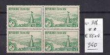 FRANCE 1935 Rivière Bretonne Yvert 301 Bloc4 Sin fij. MNH Cat 340 € V.FINE