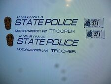Virginia State Police Motor Carrier Unit Vehicle Decals 1:24