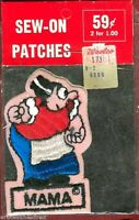 Rare Vintage Katzenjammer Kids Newspaper Comic Strip Mama Patch NOS unused 1970s