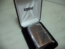 ZIPPO LIGHTER FEUERZEUG IN ARGENTO STERLING MOD ZIP 14 VINTAGE STYLE POLISH NEW