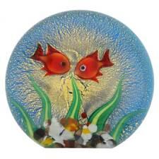GlassOfVenice Murano Glass Aquarium With Goldfish and Sun