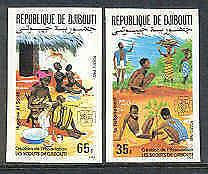DJIBOUTI 1985 BOY SCOUTS Baby Bath IMPERF SET