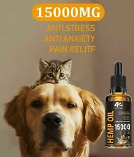 Hemp Oil For Dogs and Cats 15000mg 2oz Beef Flavor - Calming/Arthritis/Pain/Seiz