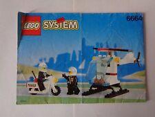 LEGO Instruction Notice POLICE Chopper Cops (6664)