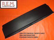 1968-72 Chevelle Monte Carlo Package Tray Board Rear Window Filler Panel Black