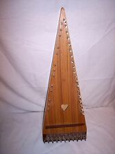 VINTAGE 23 INCH  32 STRING V OR WEDGE SHAPED Bowed Psaltry Lap Harp Dulcimer