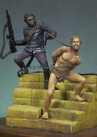 1/32 54mm Ancient Warrior Figure Model Unpainted Garage Kits Statue Unassambled