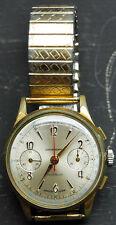 Bijouterie Ebauche Suisse Montre chronographe Incabloc bracelet Sizoflex ZRC