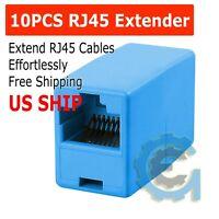 10X RJ45 CAT5e CAT6 Ethernet LAN Cable Extender Coupler Plug Joiner Connector US