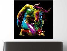 XXL bild-popart 100x100x5 CUADRO toro de Colores Lienzo Lona IKEA Loft Designe