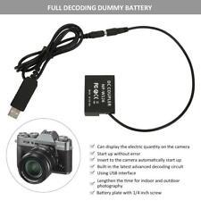 Interfaz USB al adaptador de batería NP-W126 Completo decodificación Maniquí Para Fuji X-Pro1 Cam