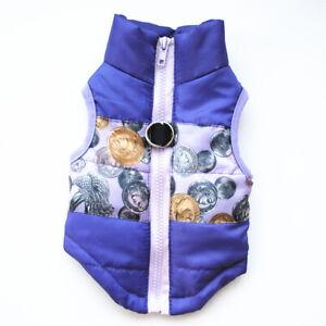 Waterproof Pet Dog Puppy Vest Jacket Warm Winter Clothes Outdoor Padded Coat US