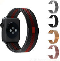 US Stainless Steel Loop Wrist Band for Apple Watch iWatch Series 5 4 3 2 38-44mm