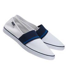 Lacoste Marice 220 1 Para hombre Informal Mocasín Zapatos tenis blancos de lona azul marino