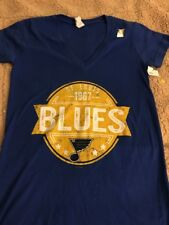 St. Louis Blues Women's V-Neck T-Shirt NWT Medium