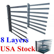 USA - Wall Fixed 8 Layers Screen Printing Shop Rack Cart Storage Frame Holder