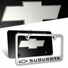 Chevrolet SUBURBAN Stainless Steel License Plate Frame w/ Cap - 2PC Front & Back