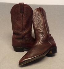 "Vintage Dan Post Western Cowboy Soft Leather boots men's size 10.5Ew "" Usa """