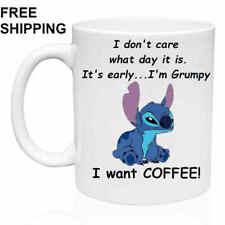 I want COFFEE!, Lilo & Stitch, 11oz - Funny Mug