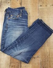 American Eagle Boy Fit Women's Jeans Mid Rise Med Wash Size 00 27x22