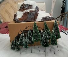 Dept 56 Medium Village Mountain w/ Frosted Sisal Trees 5227-2 (Pre-Owned)