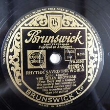 78rpm THE MILLS BROTHERS rhythm saved the world / shoe sine boy, BRUNSWICK 02245