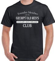 Grumpy Old Mens Club Mens Funny T-Shirt Fathers Day Present Gift Parody Birthday
