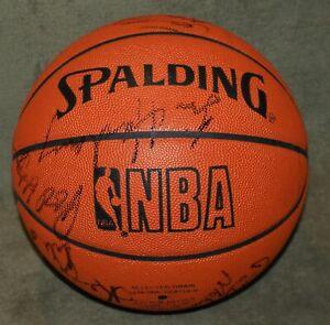 1990-1991 Golden State Warriors Team Signed Basketball JSA Mullins Hardaway