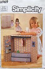 "Simplicity 6969 311 11.5"" Fashion Doll Pattern Portable Closet  - Uncut"