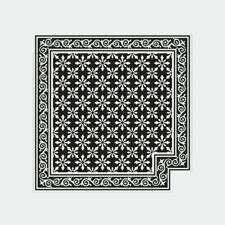 1m² Zementfliesen orientalische Boden Wand Jugendstilfliesen Flora schwarz weiß