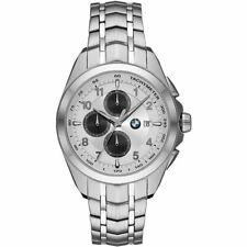 *MISTERY GIFT* Orologio Uomo BMW BMW8004 Chrono Bracciale Acciaio Bianco Silver