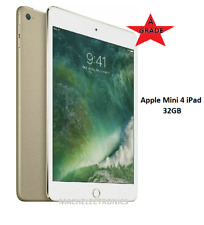 Apple iPad Mini 4 - 32 GB (Wi-Fi + 4G Cellular) (UNLOCKED) Excellent - GOLD