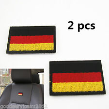 Germany National Flag Emblem Auto Seats Embroider Weaving Cloth Stickers For BMW