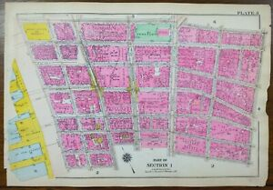 Vintage 1916 WORLD TRADE CENTER MANHATTAN NEW YORK CITY Map ~ CENTRAL PARK NYC