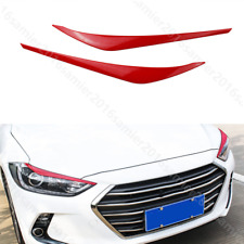 fit for HYUNDAI Elantra 2017-2018 red Front Headlight Lamp Eyelid Covers