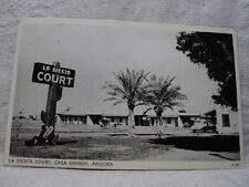 CASA GRANDE AZ Arizona La Siesta Court Motel Roadside vintage Postcard