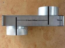 """WOOD HEATER FLUE INBUILT S/S 9inch OFFSET 6"""" diameter B/New"""