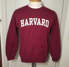 Vintage 90s Harvard University Maroon Crewneck Sweatshirt MV Sport Sz Small