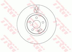 TRW Brake Rotor Front DF6744S fits Mercedes-Benz Vito 111 CDI (W447), 114 CDI...