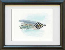 Grey Ghost Streamer Fly Print, watercolor, fishing, fly fishing, art